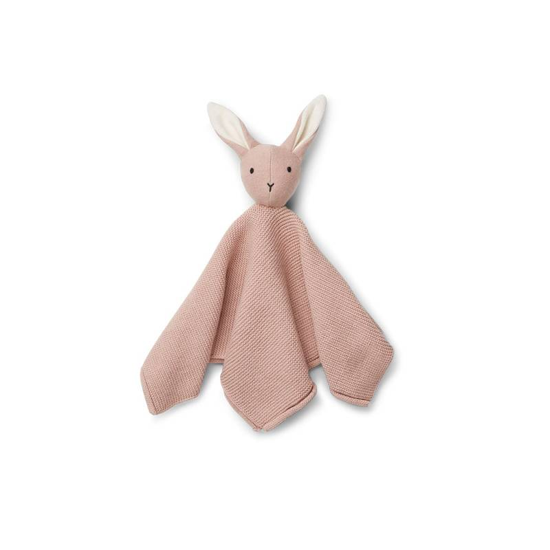 Lapin rose tricot