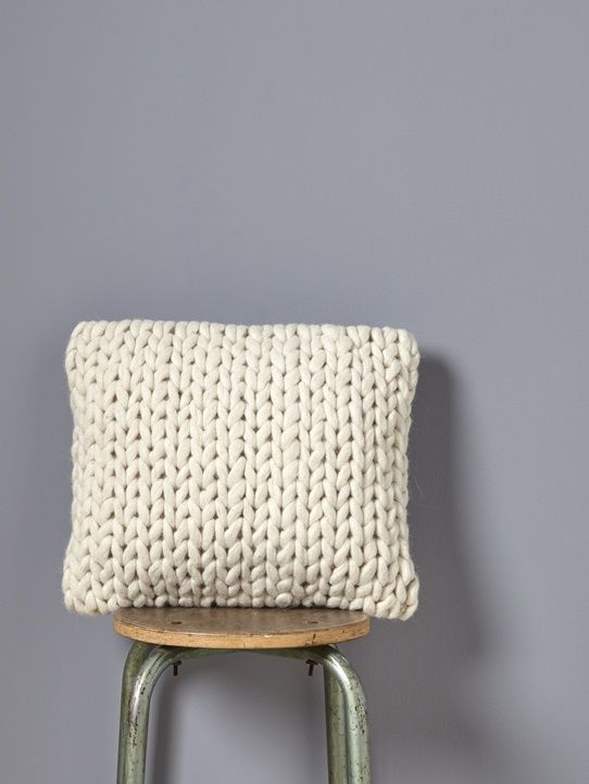 Coussin tricot grosse maille