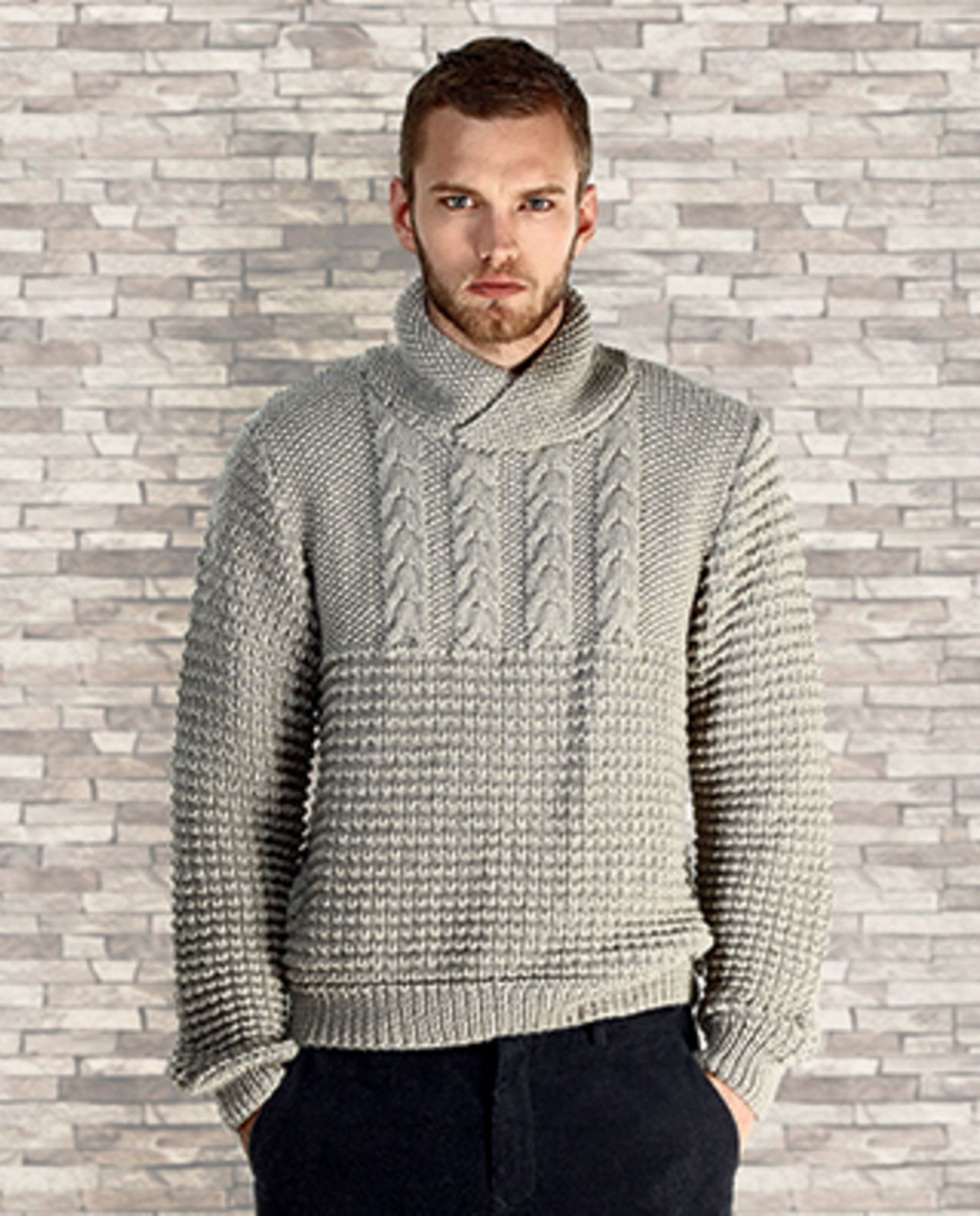 Tricoter pull laine homme