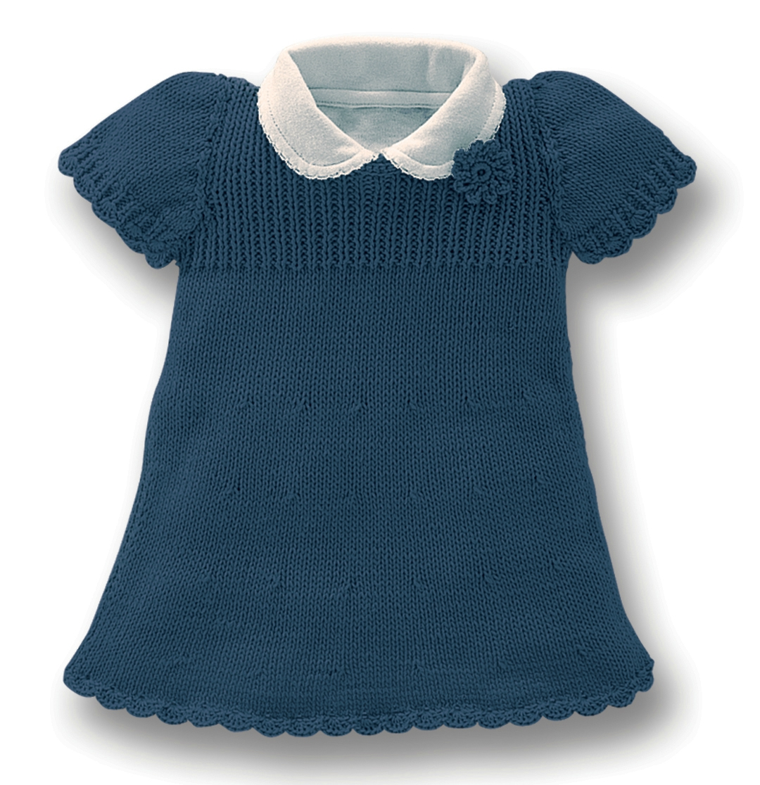 Robe tricot manches longues