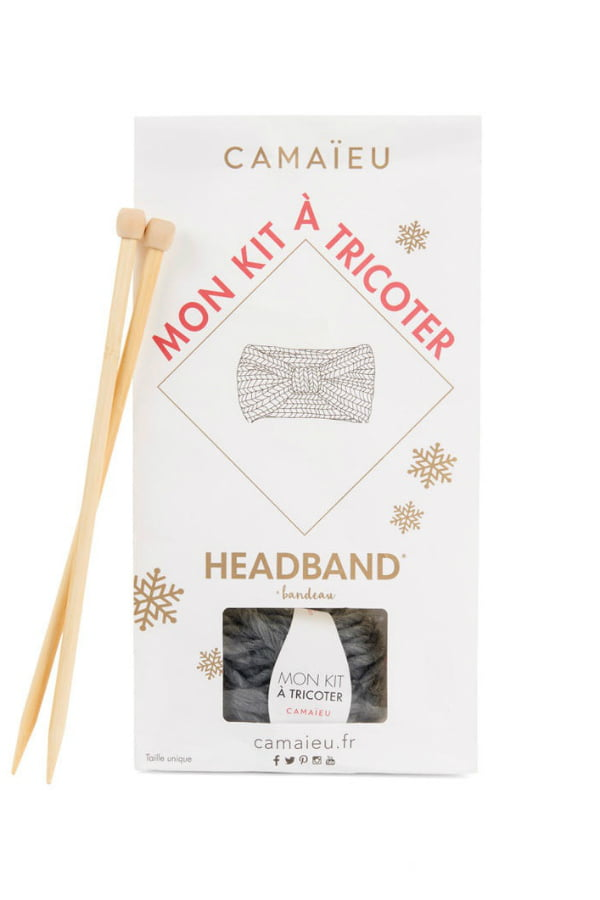 Kit tricot snood camaieu