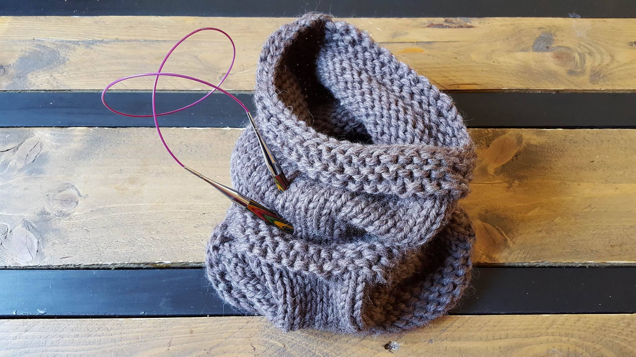 Tricoter en rond snood