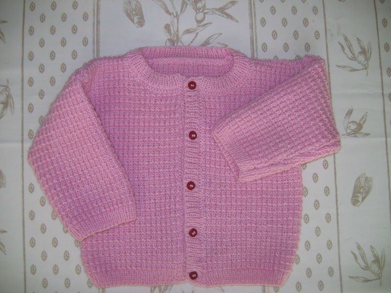 Modele tricot gilet 2 ans