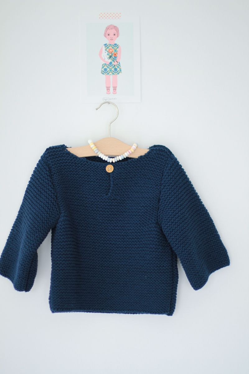 Tricot point gros jours