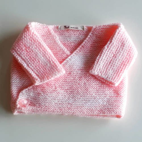 Tricot gilet taille naissance