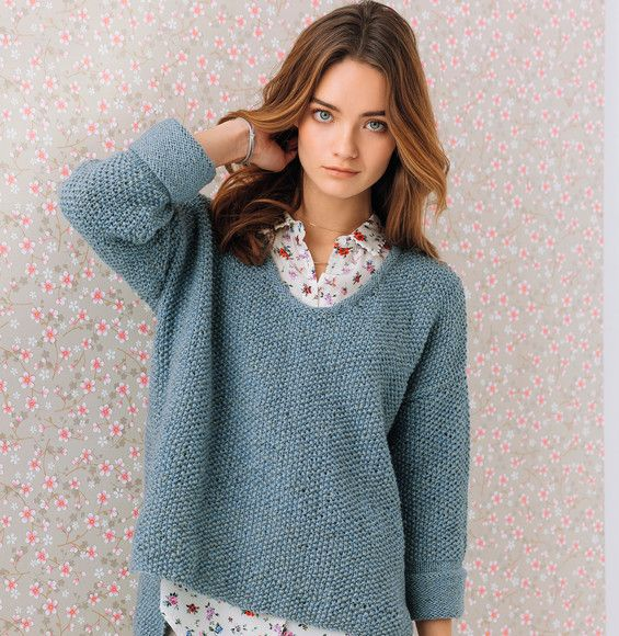 Tricot pull fille simple