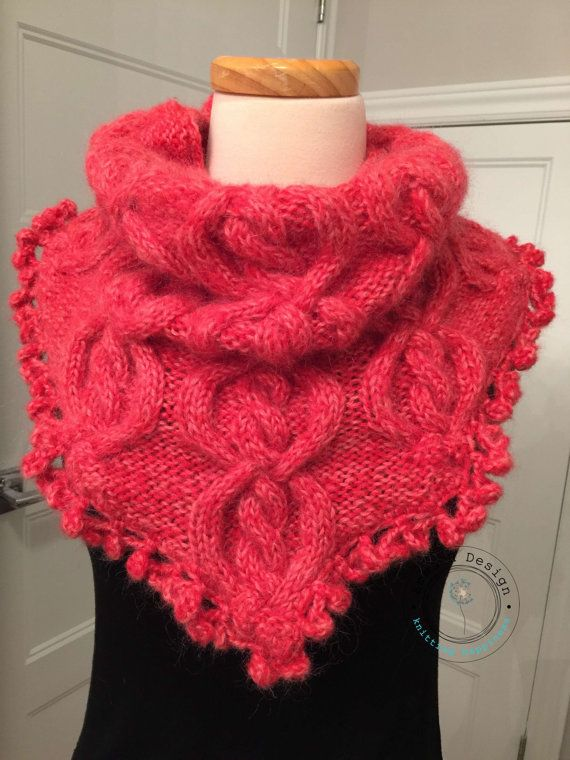 Tricot snood mohair