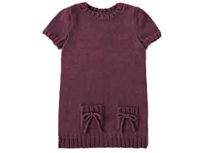 Tricot robe fille 4 ans