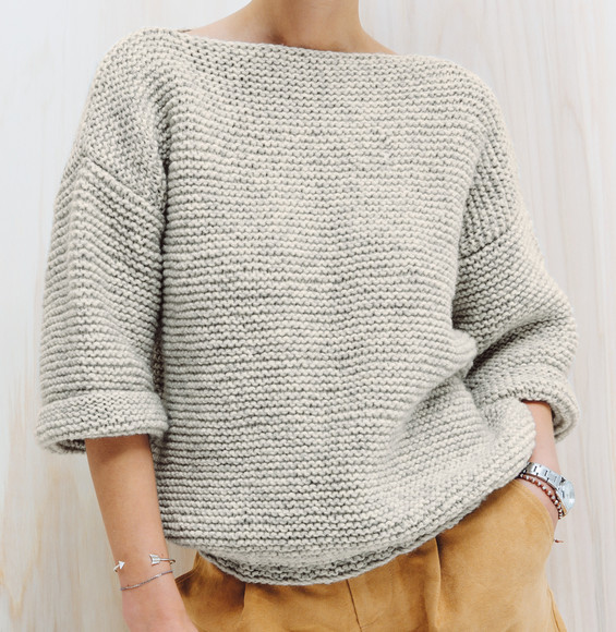 Pull tricot femme facile tuto