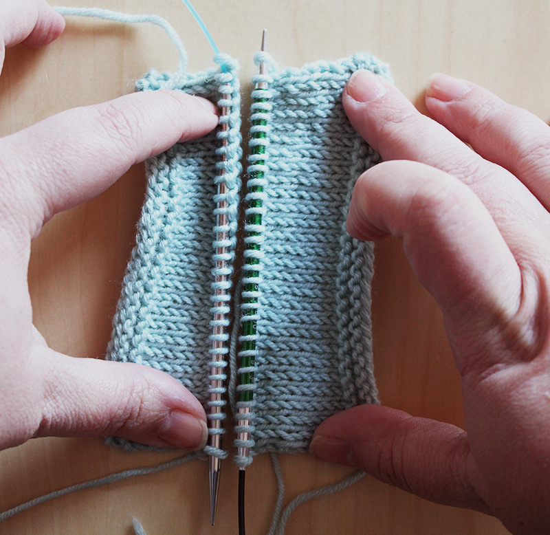 Tricot taille aiguille