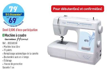 Machine a coudre home carrefour