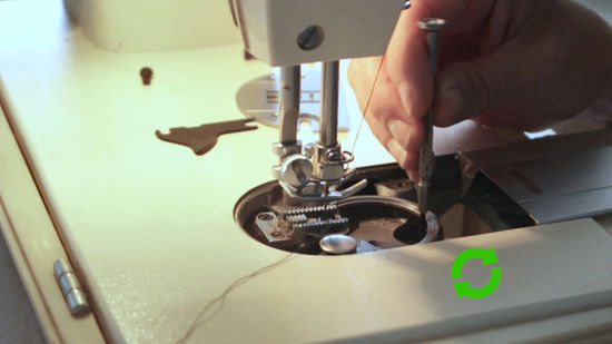 Aiguille decalee machine a coudre