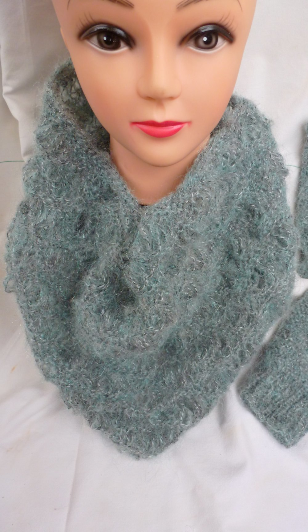 Snood leger tricot