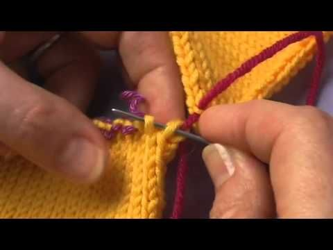 Tricot couture invisible sur jersey