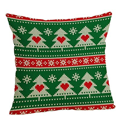 Coussin tricot noel
