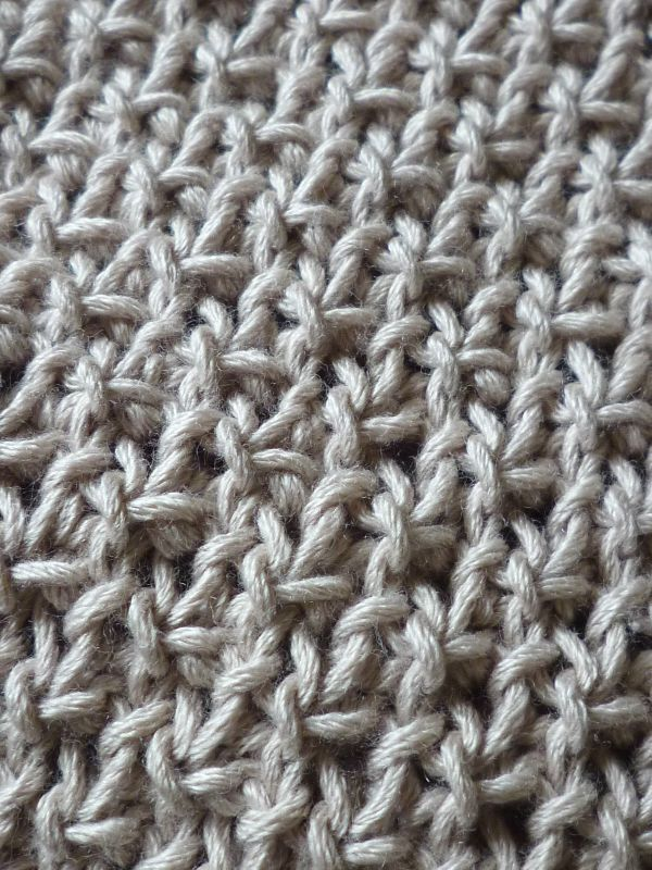 Tricot point recto verso