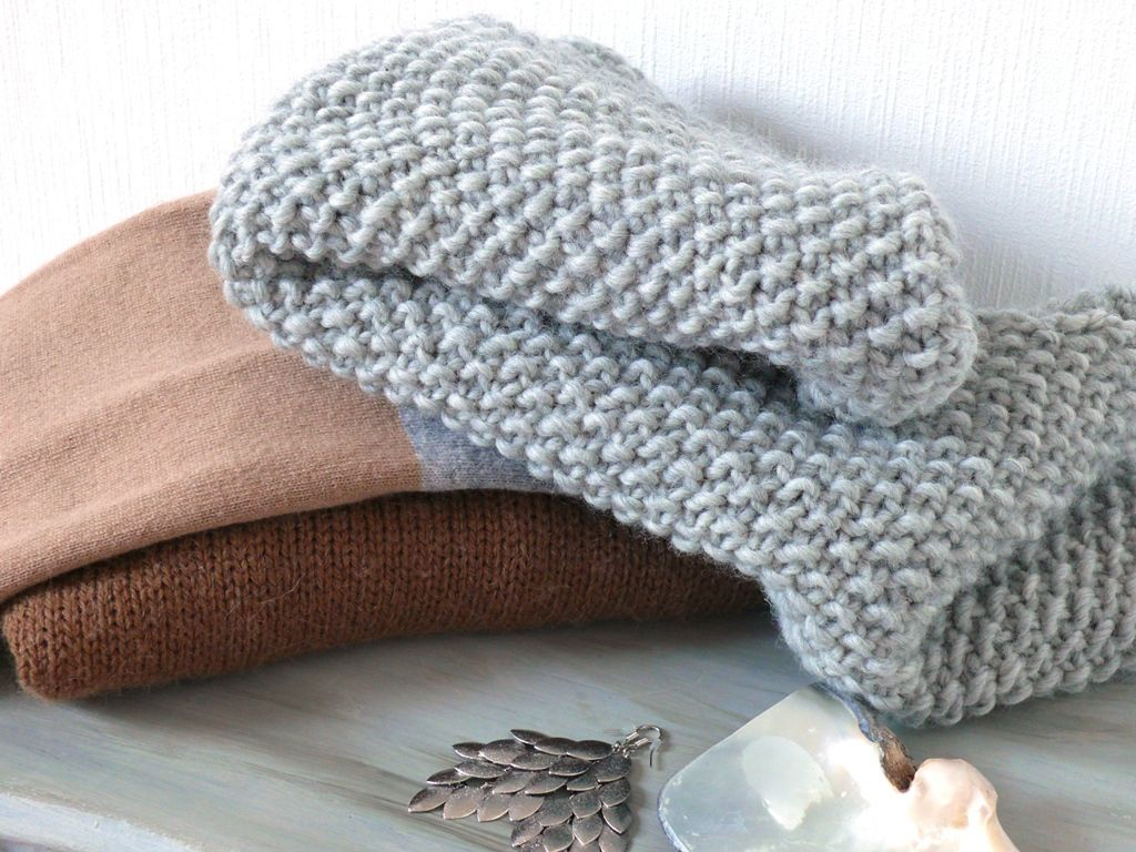 Tricot circulaire point mousse