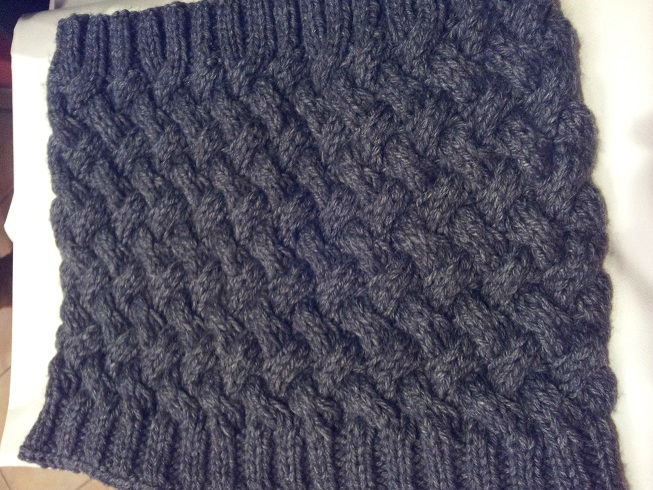 Tricot snood homme tuto