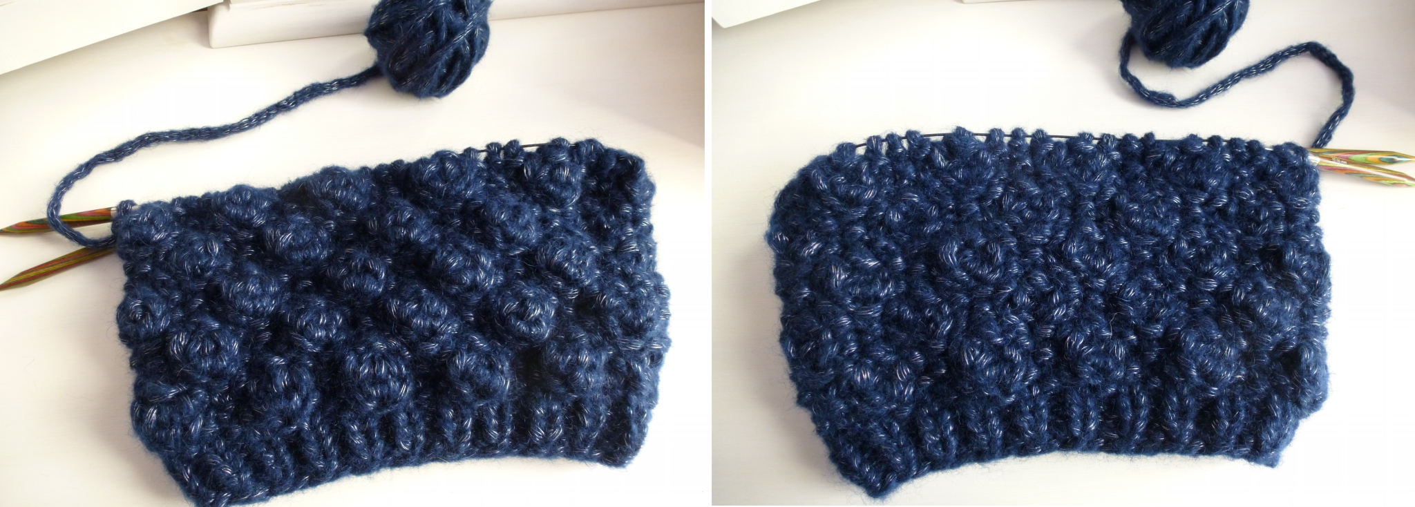 Tuto noppes tricot