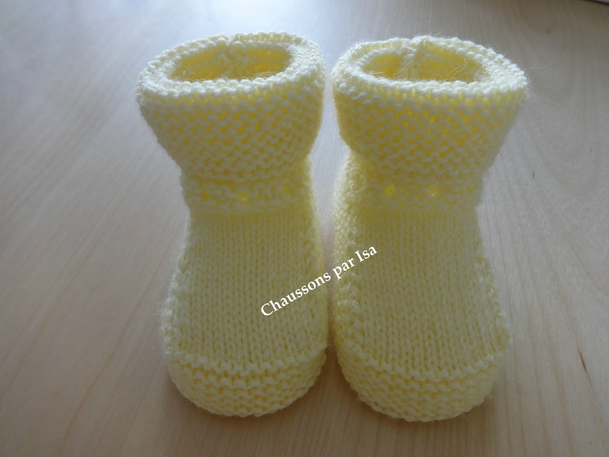Tricot chausson layette