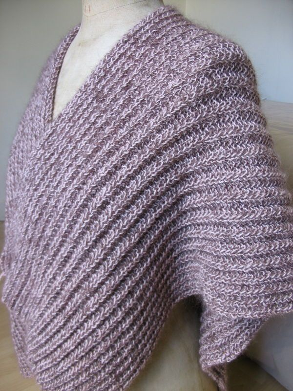 Poncho tricot grosse laine