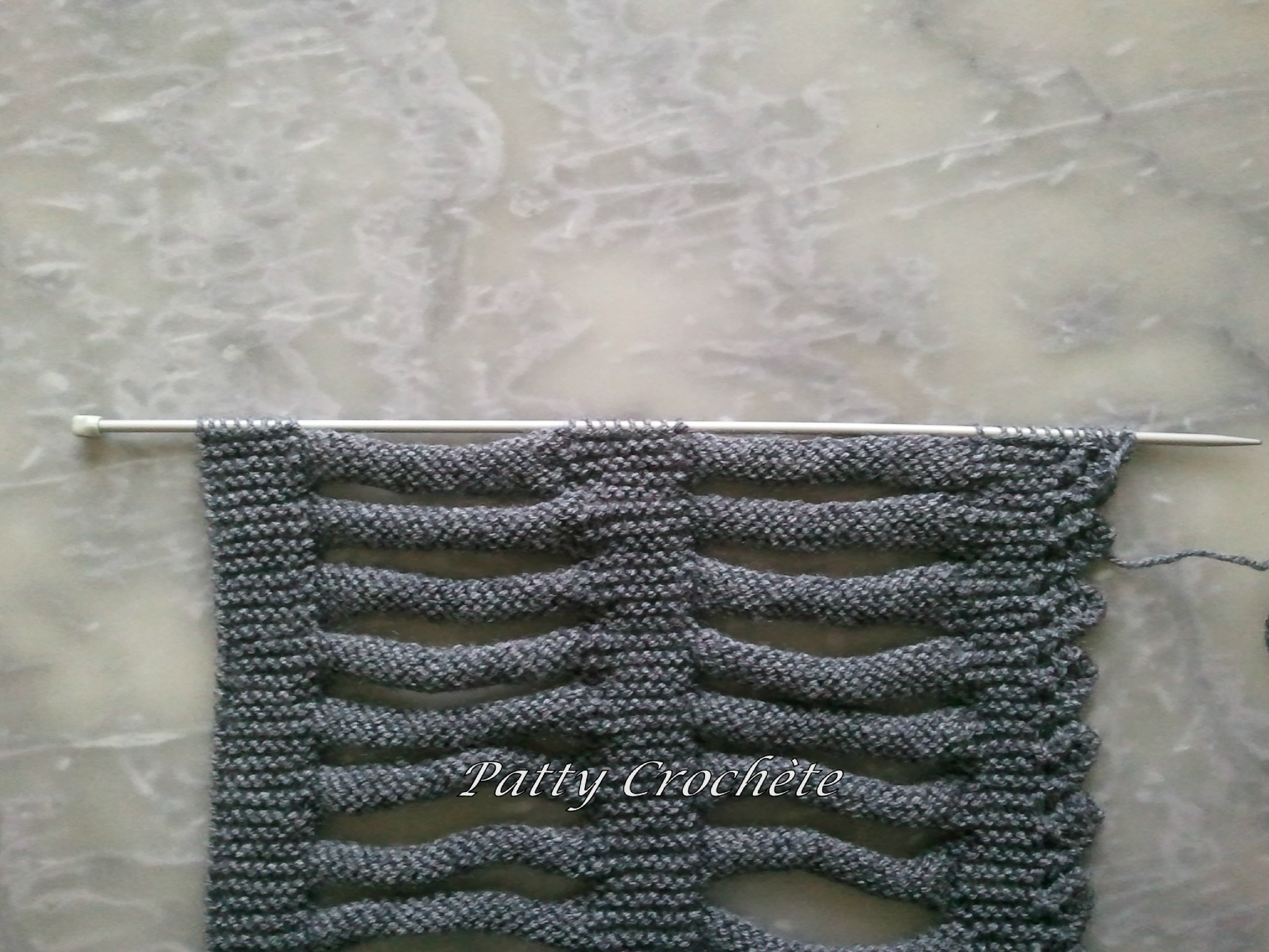 Tricot monter mailles anglaise