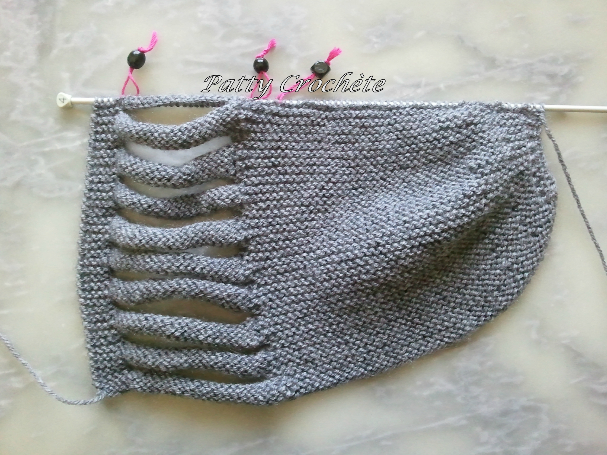 Finition tuque tricot