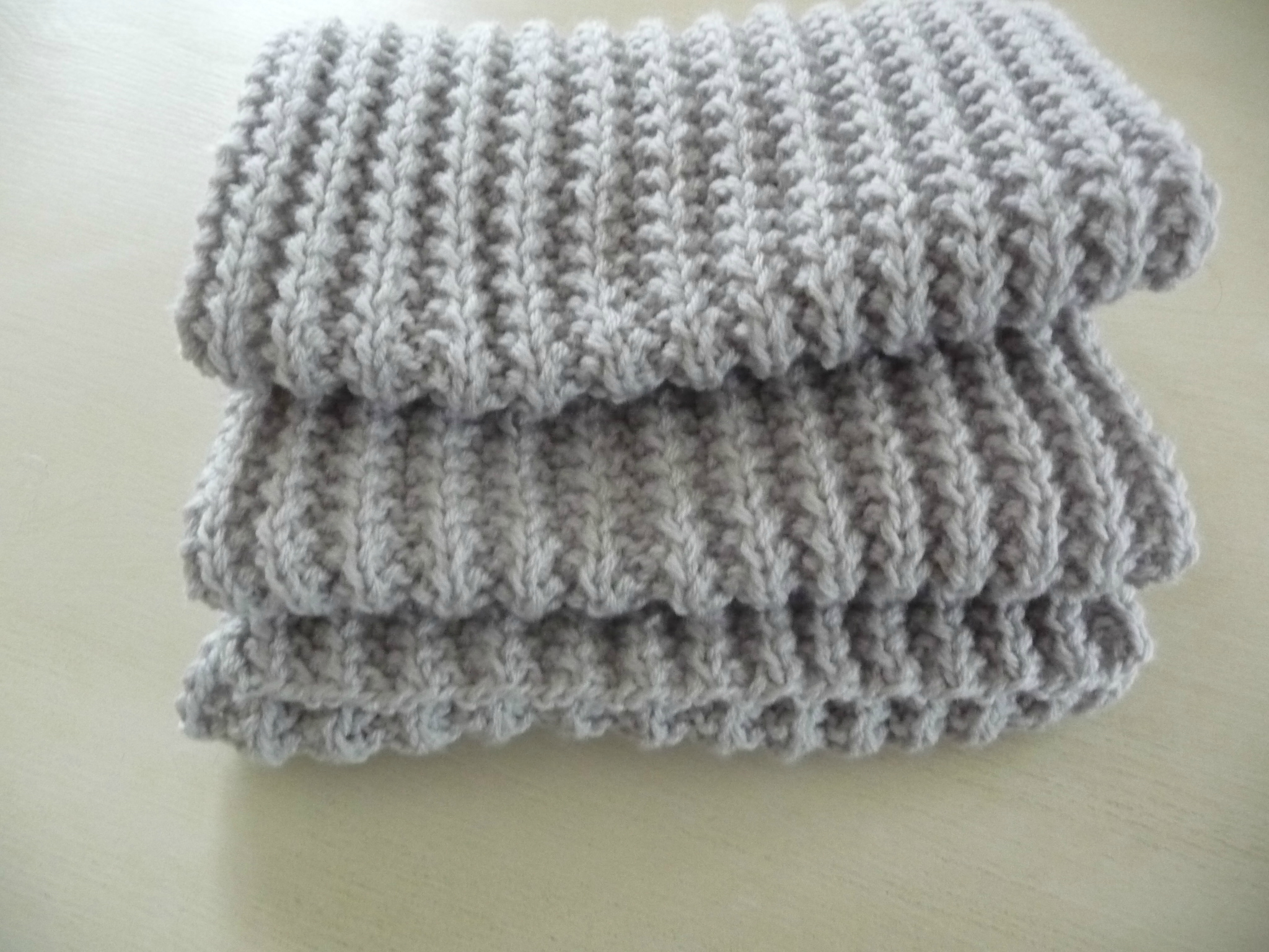 Point tricot grosse laine