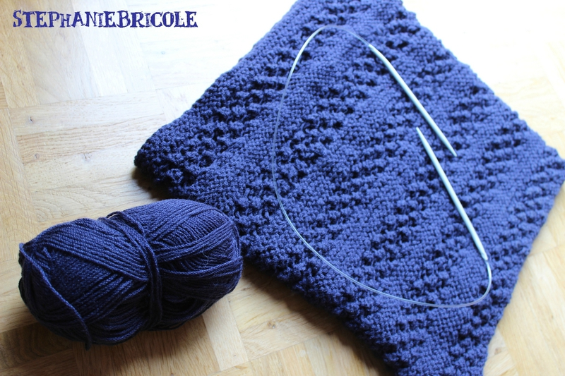 Tricot modele snood