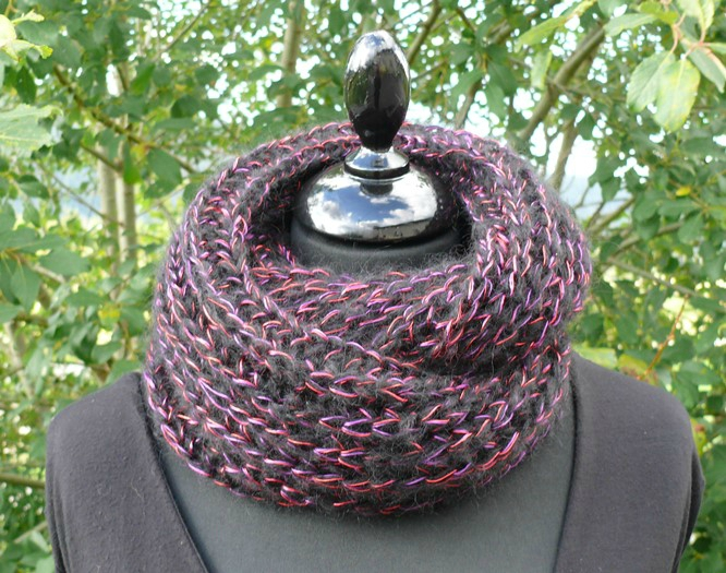 Tricot snood 2 tours
