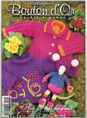 Tricot layette bouton d'or