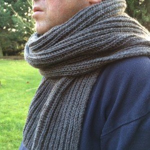Tricot echarpe maille anglaise