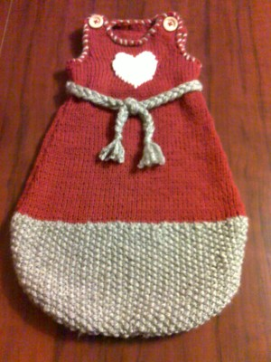 Gigoteuse hiver tricot