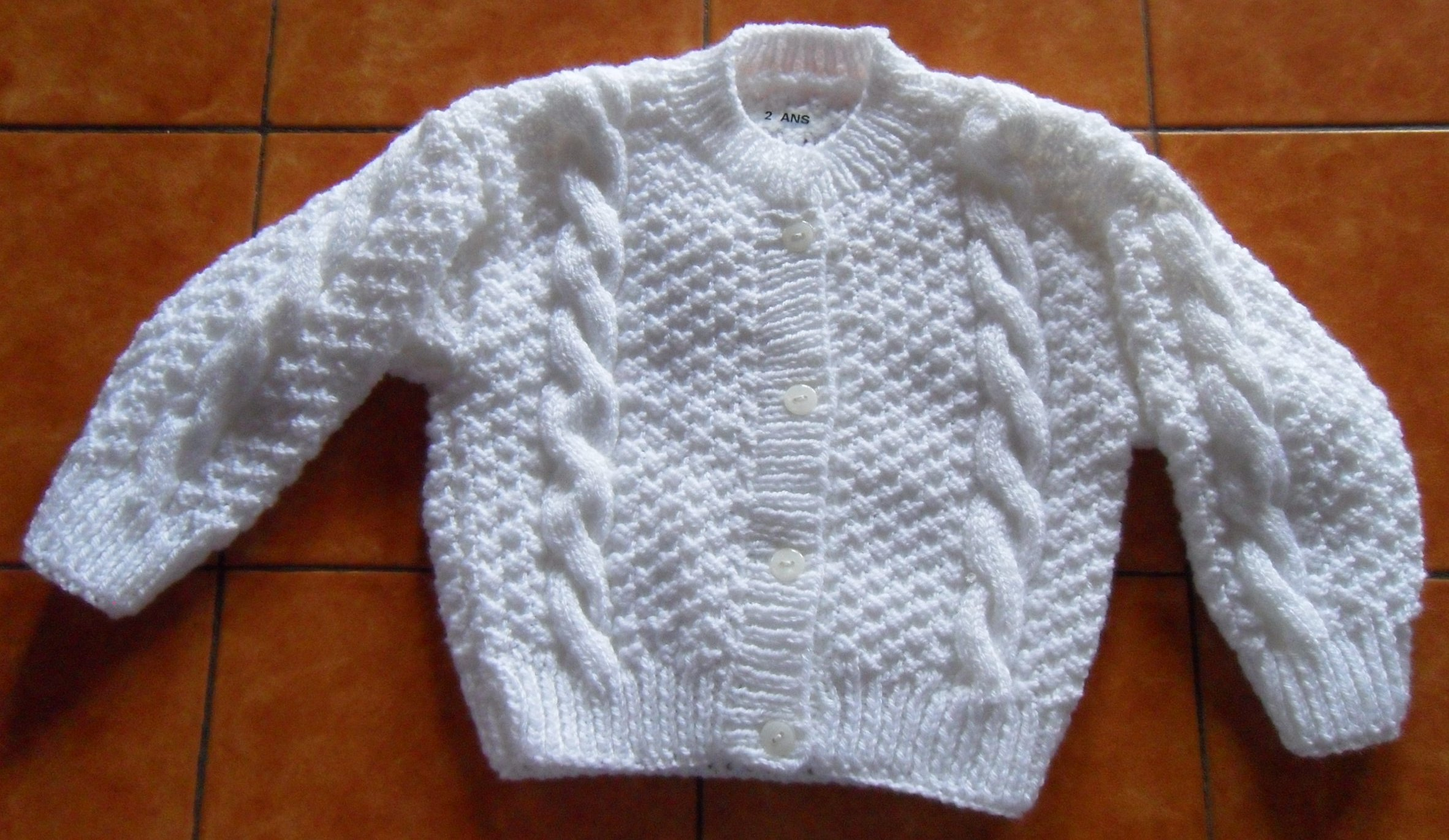 Tricot cardigan fillette
