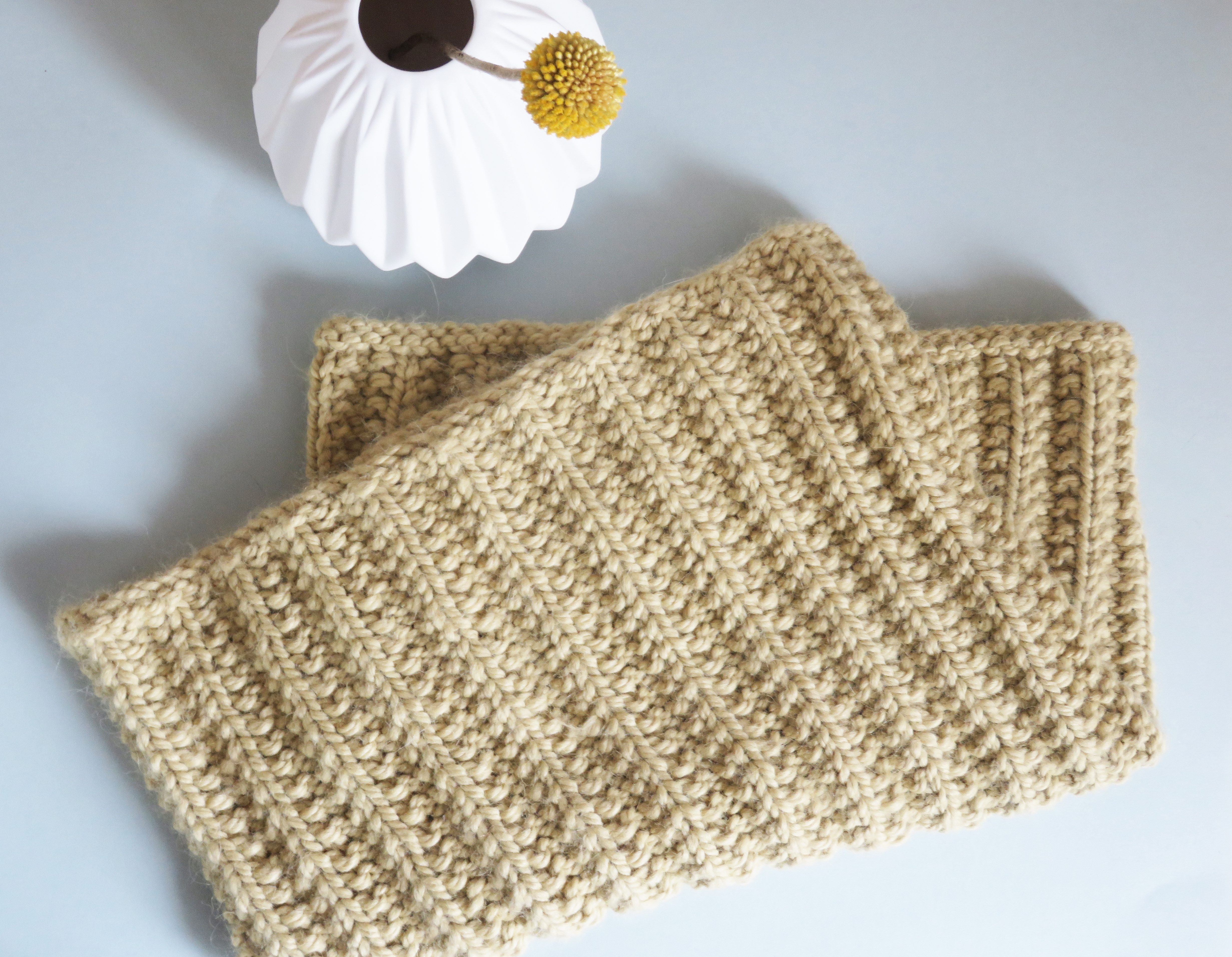 Maille anglaise tricot en rond