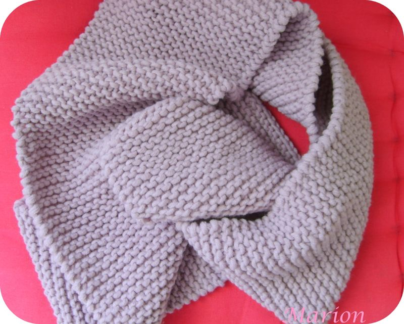 Tricot foulard point mousse
