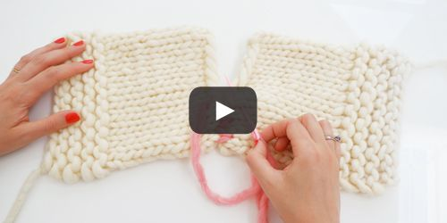 Video tricot couture invisible
