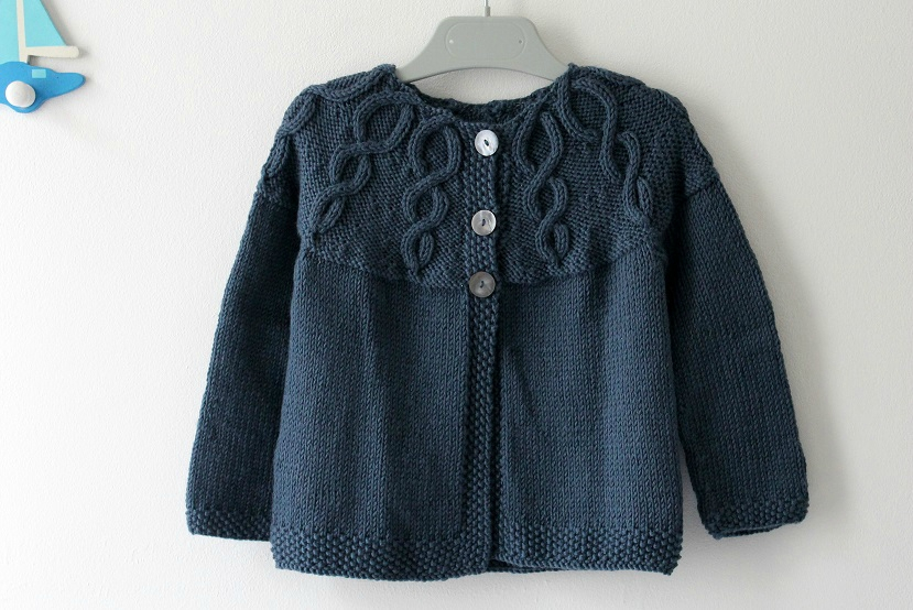 Modele gilet tricot taille 2 ans