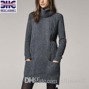 Robe tricot grise
