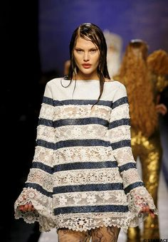 Pull tricot haute couture