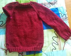 Tricot pull aiguille circulaire
