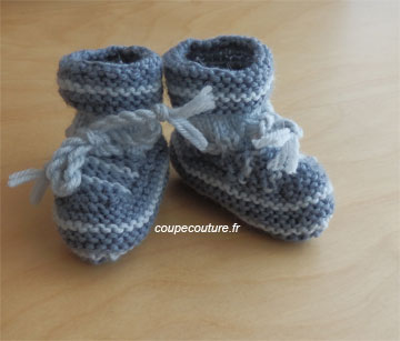 Tricot coudre chausson