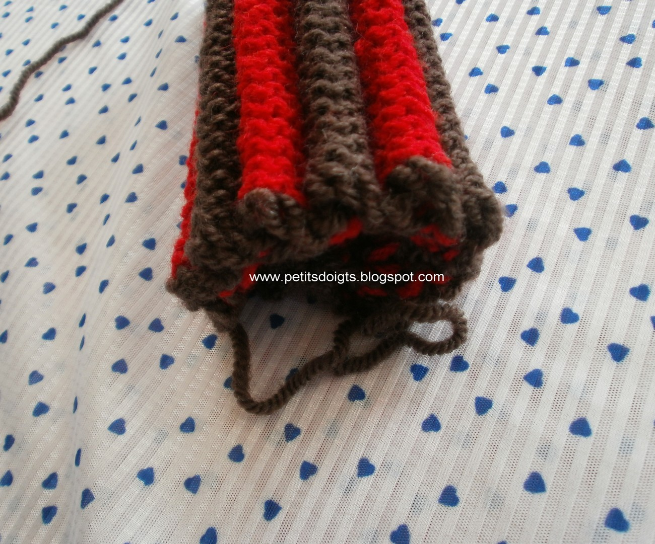 Tricot point epi de mais