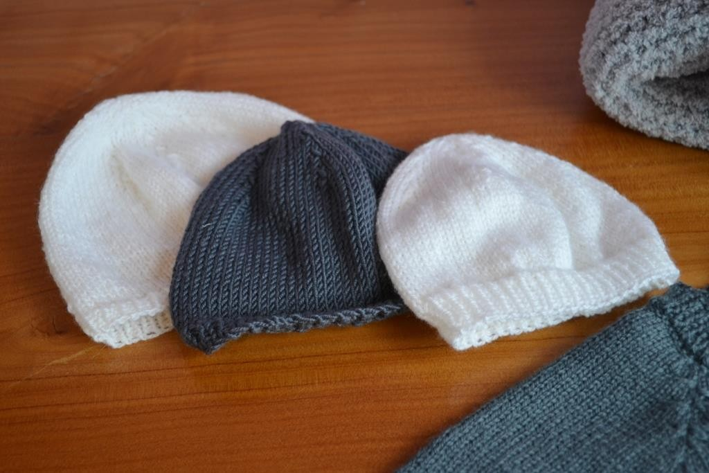 Tricot tuque bebe naissant