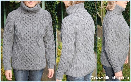 Tricot pull irlandais homme