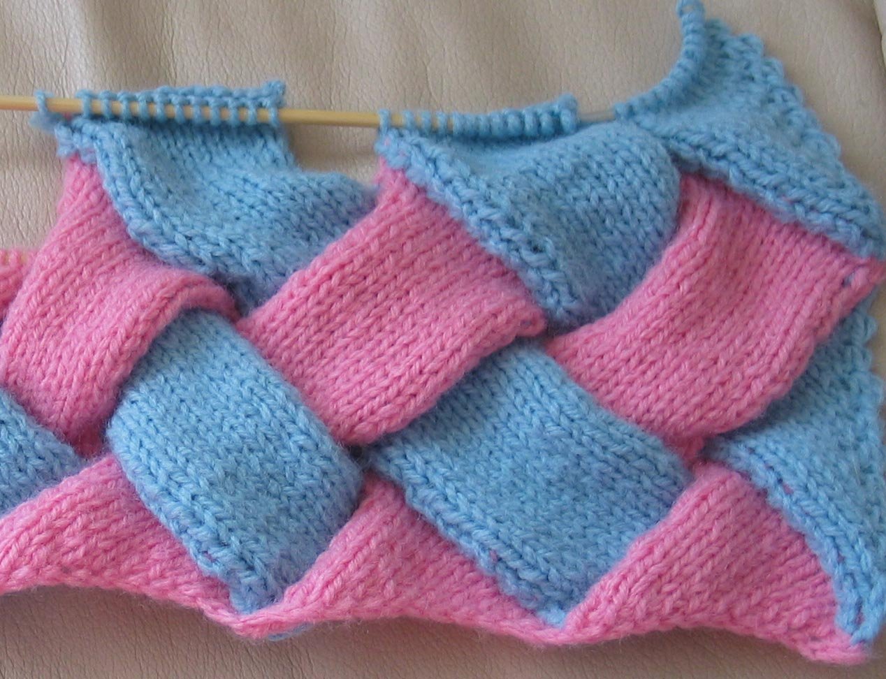 Tuto tricot point entrelac