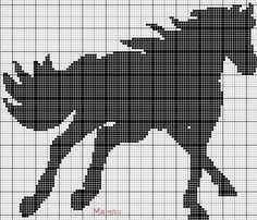 Grille tricot jacquard cheval