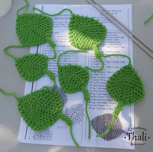 Tricot feuille