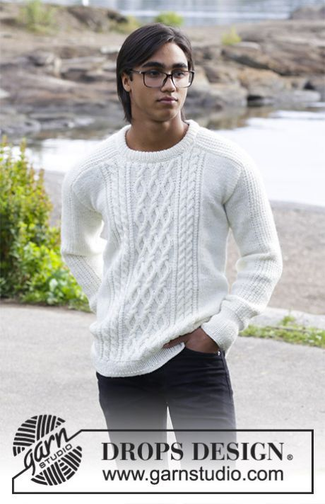 Drops modele tricot homme