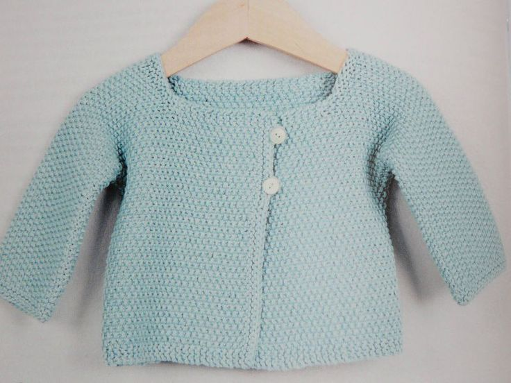 Tuto tricot gilet fille 1 an